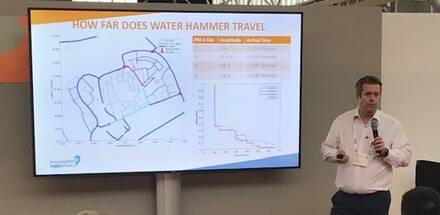 Man presenting water hammer
