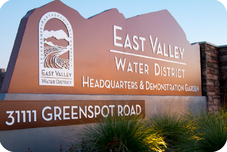Picture shows headquarters of East Valley Water